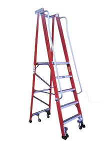 Laddermenn Ladders | Fiber Ladder with Wheels