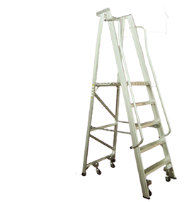 Laddermenn Ladders | L M Metals (S) Pte Ltd | Platform Ladder With Wheels